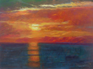 rick delanty out to sea catalina sunset