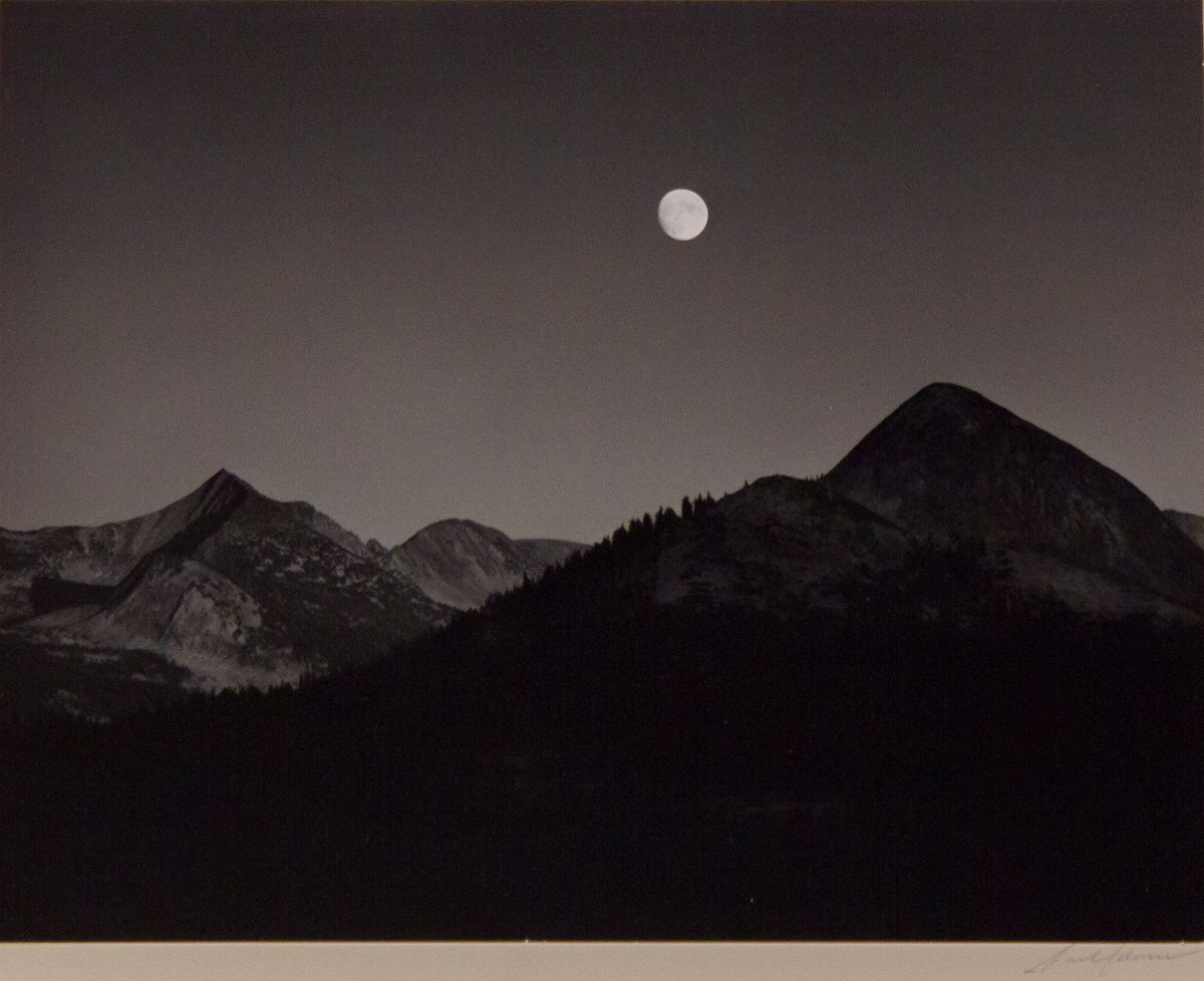 Ansel Adams Moonrise From Glacier Point A Yosemite Special